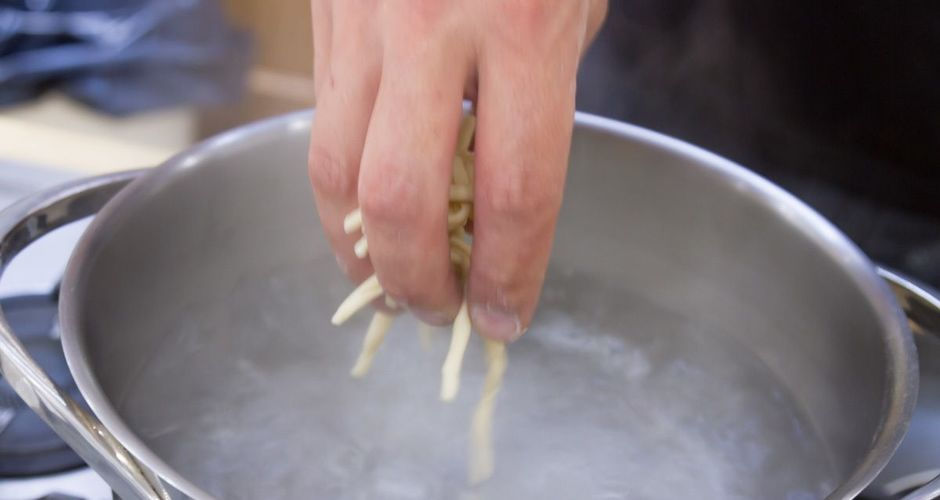 Homemade Strozzapreti Pasta