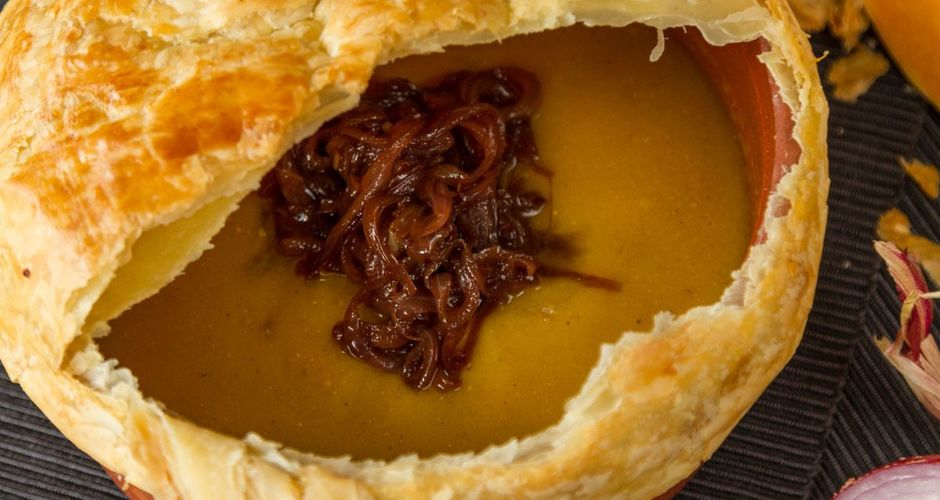 Aromatic Pumpkin Soup in Puff Pastry