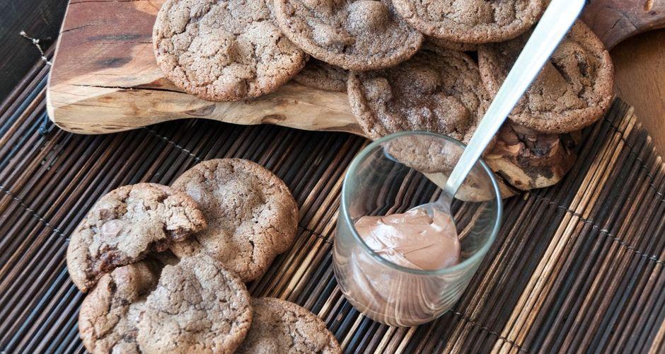 Μπισκότα με πραλίνα σοκολάτας