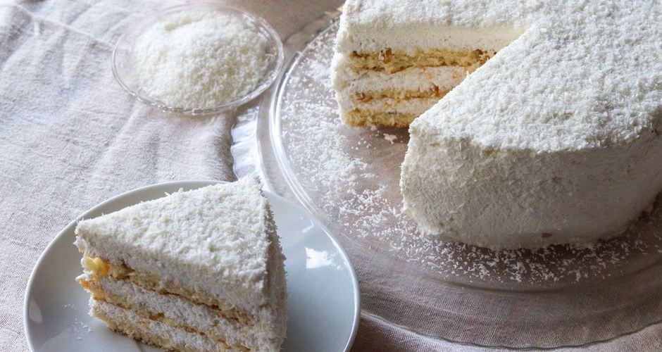 Coconut Meringue Cake