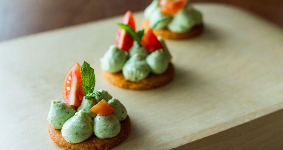 Savory Tomato Cookies with Basil Pesto