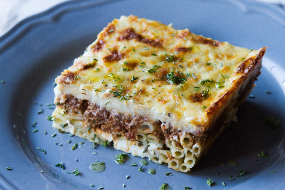Greek Pastitsio Akis Baked Pasta Recipe Akis Petretzikis