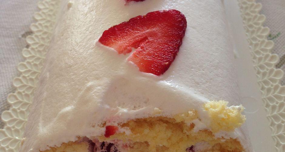 Swiss Roll με φράουλες