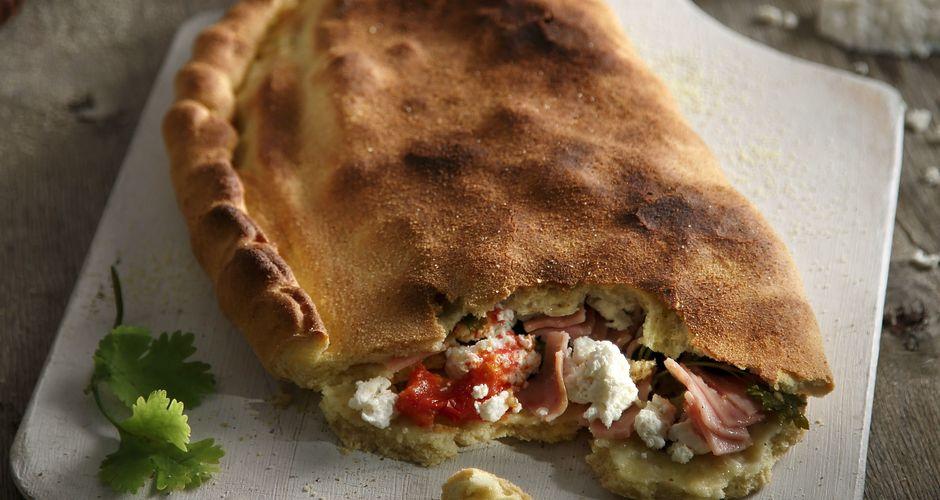 Calzone with anari cheese and ham