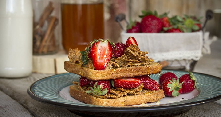 French Toast with cereal