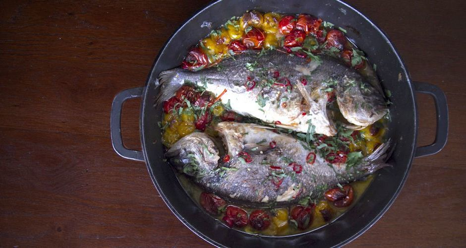 Sea Bream Poached in Crazy Water