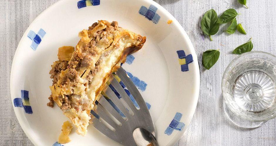 Lamb ragu lasagna