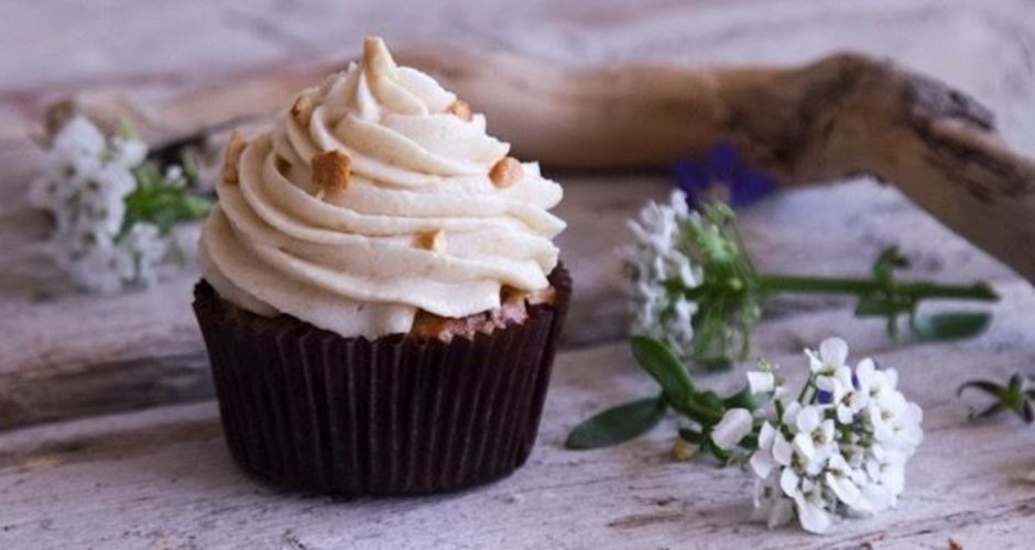 Banana Cashew Cupcakes with Cashew Frosting