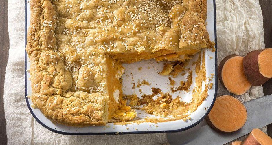 Πίτα με γλυκοπατάτα και φέτα
