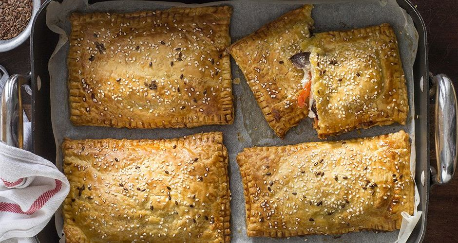 Eggplant and Feta Puff Pastry Turnovers