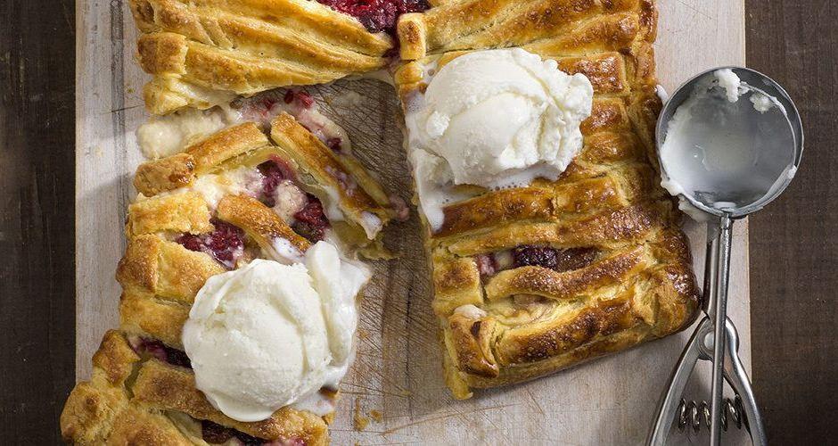 Bougatsa - Custard and Fruit Phyllo Pie