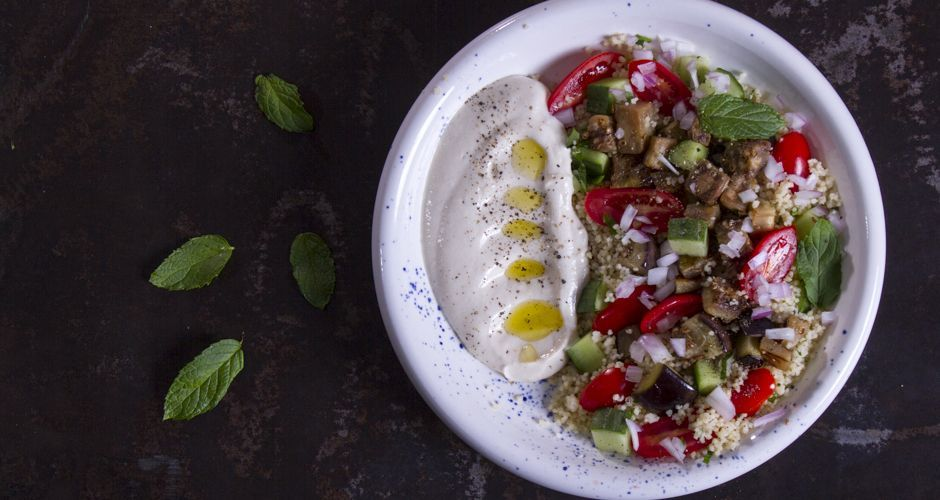 Tabbouleh with Grilled Eggplant