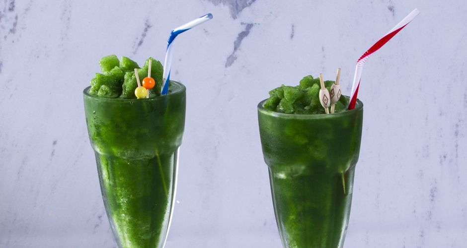 Spinach and Pineapple Slush