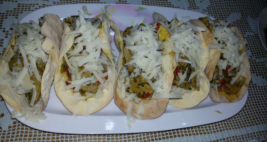 Tacos με ψαρονέφρι και πιπεριές