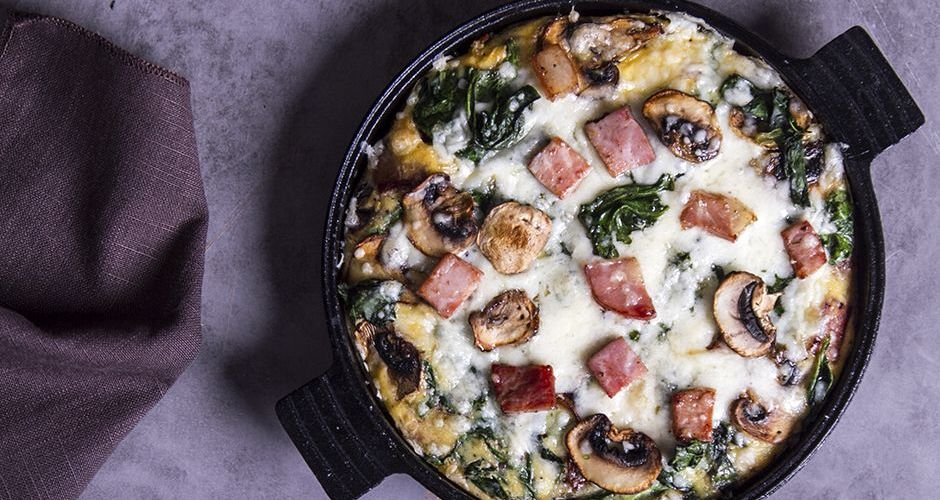Spinach and Mushroom Baked Omelet