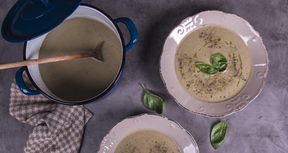 Lemony Grilled Eggplant Soup