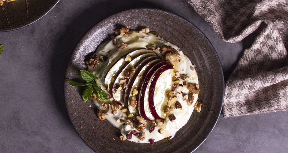 Yogurt with Apples Honey and Spices