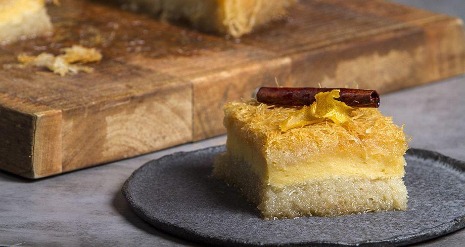 Galaktoboureko - Custard Pie with Shredded Phyllo