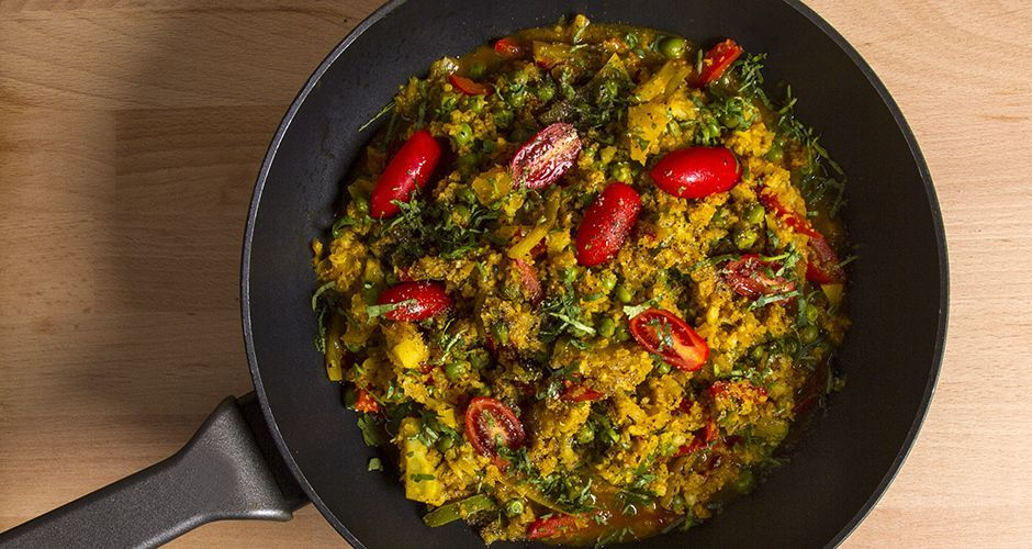 Paella with Cauliflower and Spices