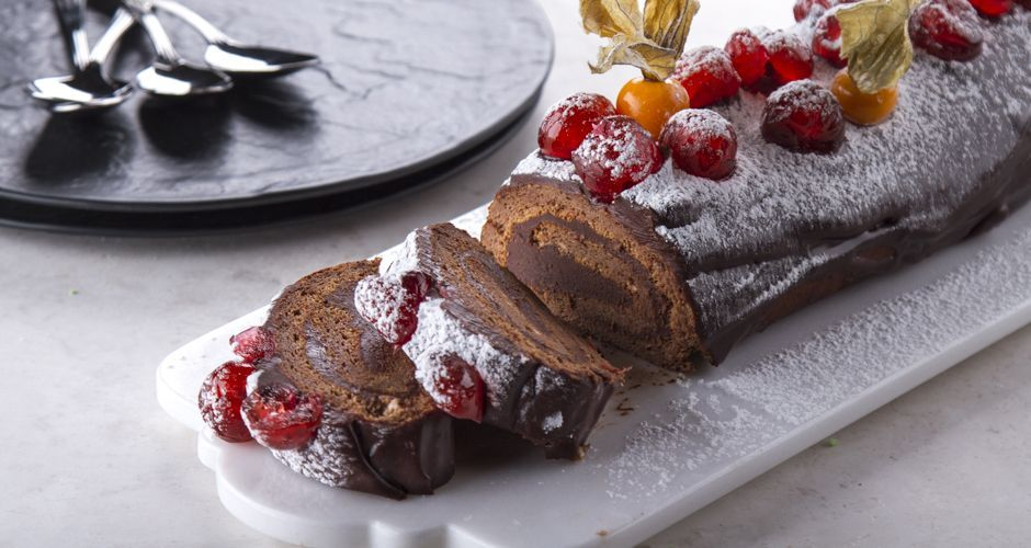 Christmas Log with Chocolate