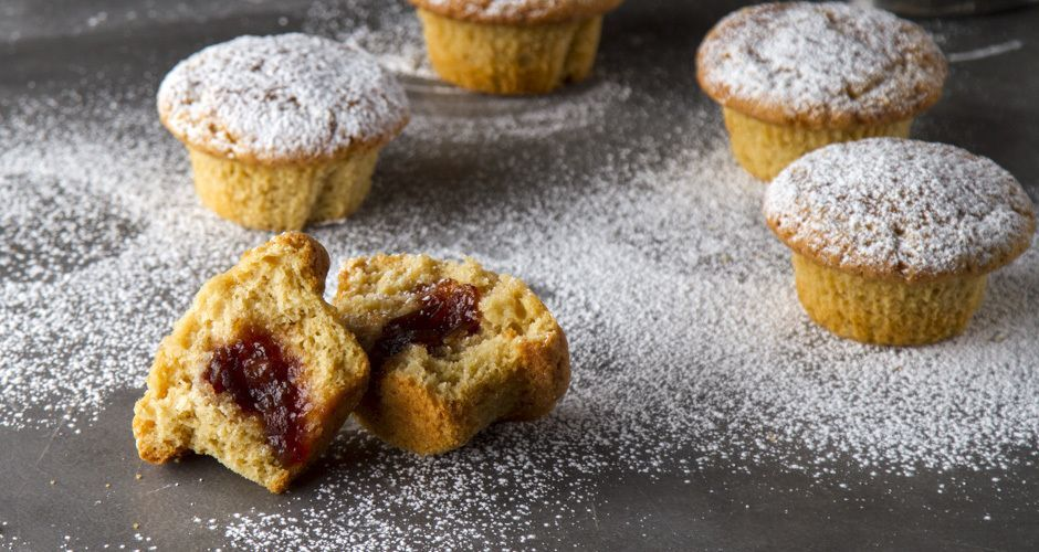 Plum Jam Filled Muffins