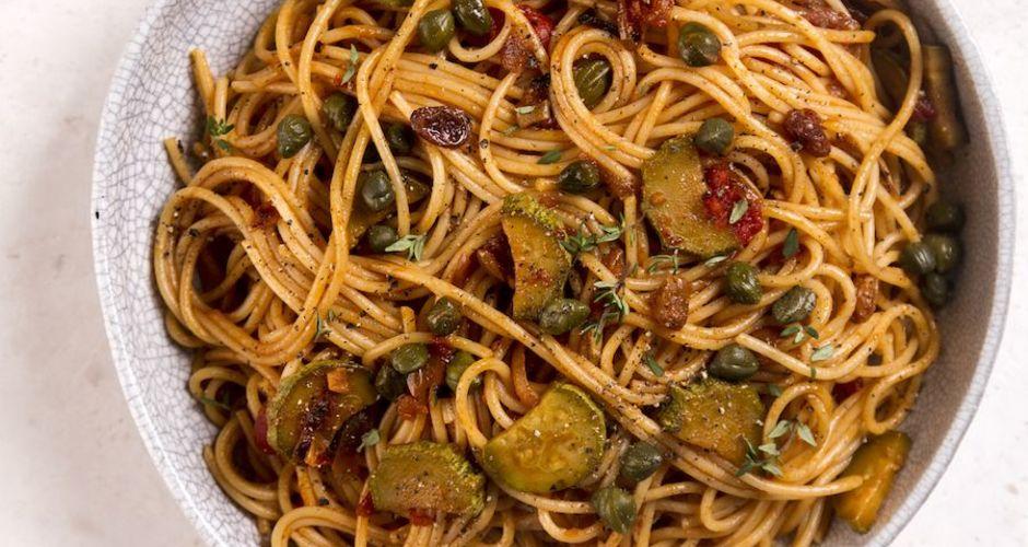 Pasta Caponata with Zucchini