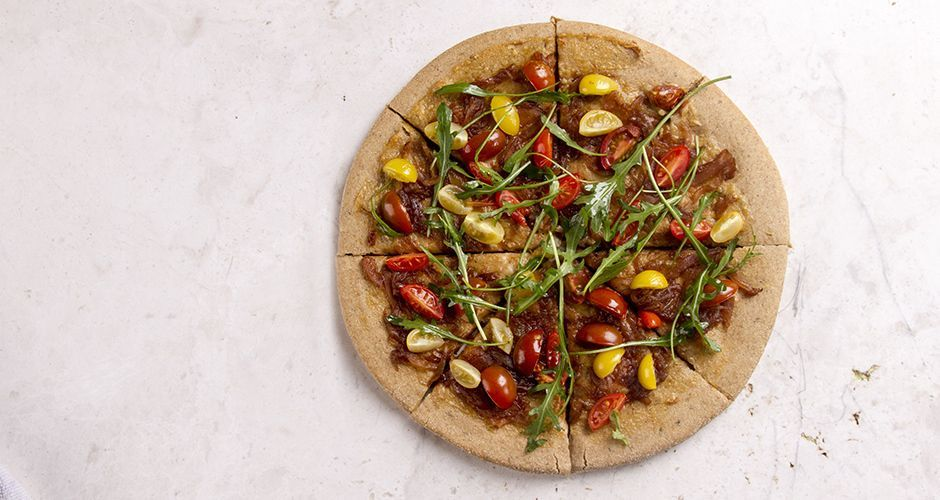 Whole Wheat Pizza with Caramelized Onions