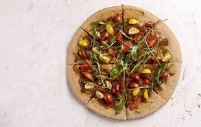 Recipe thumb akis petretzikis vegan pizza karamelwmena kremmudia ntomatinia site healthy