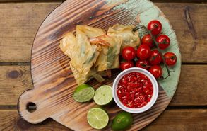Recipe thumb akis petretzikis phyllo wrapped prawns